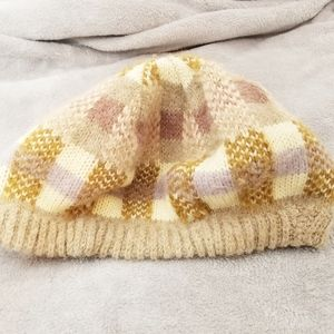 Vintage Hansen checkered knit hat